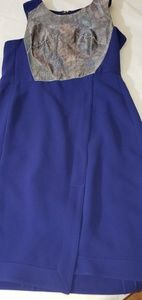 Rachael Roy royal blue dress with metallic panel
